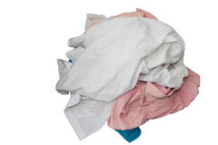 Unwash clothes on white Royalty Free Stock Photography