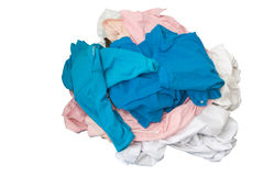 Unwash clothes on white Stock Images