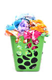 Unwashed cloth in basket Royalty Free Stock Photo