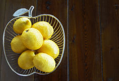 Unwaxed lemons Royalty Free Stock Image