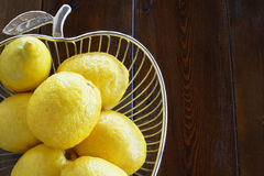 Unwaxed lemons Stock Photo