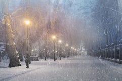 Unwetter in Kiew Stockfotografie