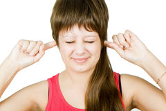Unwillingness to listen to Stock Image