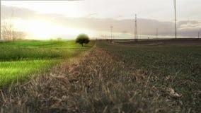 Unwirkliche Landschaft stock video footage