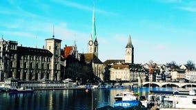 Unwirkliche Schönheit von Zürich stockfoto
