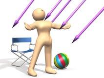 Unwissenheit des Schadens des UV-Lichts Lizenzfreies Stockfoto