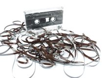 Unwound cassette tape Stock Image
