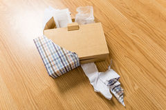 Unwrap of present Royalty Free Stock Image