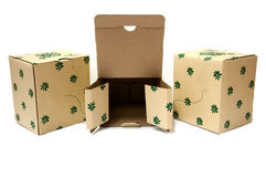 Unwrap and wrap paper box Royalty Free Stock Photography