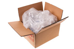 Unwrapped box Stock Photo