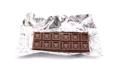 Unwrapped Chocolate Bar. Stock Images