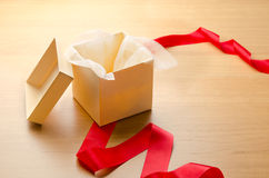 Unwrapped gift Stock Image