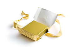 Unwrapped gift Stock Photography