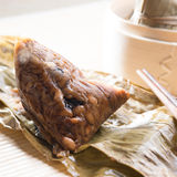 Unwrapped Sticky Glutinous Rice Dumplings Stock Image
