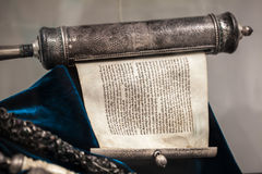 Unwrapped Torah scroll silver Royalty Free Stock Photo