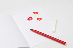 Unwritten love letter, selective focus Stock Photography