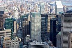 Unzählige Wolkenkratzer New- York Citymanhattan lizenzfreie stockbilder