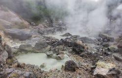 Unzen温泉& Unzen地狱在长崎,九州 免版税库存照片