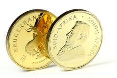 1-Unzen-Goldgoldmünze Stockfotografie
