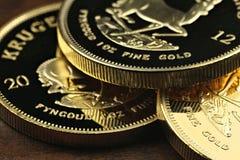 1 Unzengoldgoldmünzen Lizenzfreies Stockfoto