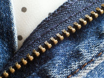 Unzip Jean Royalty Free Stock Images