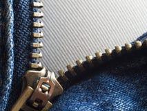 Unzip Jean. Close up Unzip Jean Royalty Free Stock Image