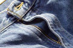Unzipped Jeans Fly Royalty Free Stock Photography