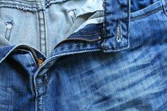 Unzipped men blue jeans Stock Photo