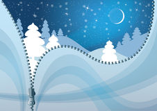 Unzipped Winter Background. Stock Images
