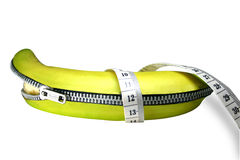 Unzipping da banana Imagem de Stock Royalty Free