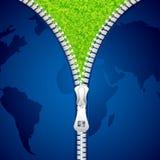 Unzipping Earth Stock Photo