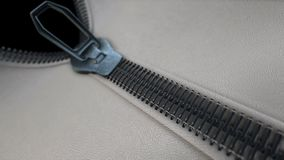Unzipping a zipper sale transition with isolate mask. Unzipping a zipper, realistic 3d animation,sale transition with isolate mask stock video