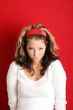 Unzufriedene Frau lizenzfreies stockfoto