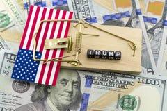 Unzufriedenheit im US Präsidenten Lizenzfreies Stockbild