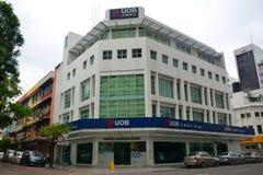 UOB-fasad i Kota Kinabalu, Malaysia Arkivfoton