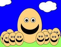 Uomini 10 dell'uovo di Pasqua Immagine Stock Libera da Diritti
