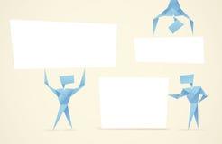 Uomini astratti di origami Fotografia Stock