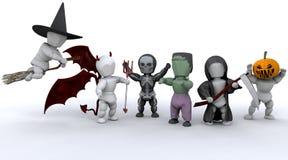 Uomini in attrezzature del partito di Halloween illustrazione vettoriale