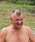 uomini barbering Fotografia Stock