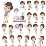 Uomini blu della maglia del rivestimento circa la malattia royalty illustrazione gratis