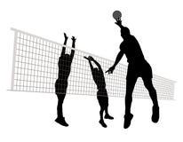 Uomini che giocano pallavolo Fotografia Stock Libera da Diritti