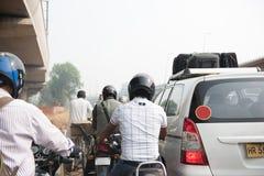 Uomini che guidano le motociclette Fotografia Stock Libera da Diritti