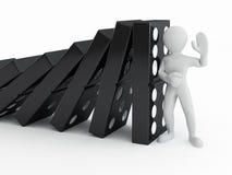 Uomini con domino Fotografia Stock Libera da Diritti