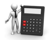 Uomini con il calcolatore illustrazione vettoriale