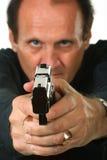 Uomini con la pistola immagine stock libera da diritti