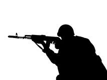 Uomini con le armi Fotografia Stock