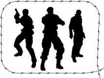Uomini con le pistole impostate - 1 Immagini Stock Libere da Diritti