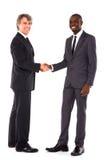 Uomini d'affari che agitano le mani Fotografie Stock Libere da Diritti