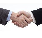 Uomini d'affari che agitano le mani Fotografia Stock