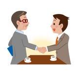Uomini d'affari che agitano le mani Immagini Stock